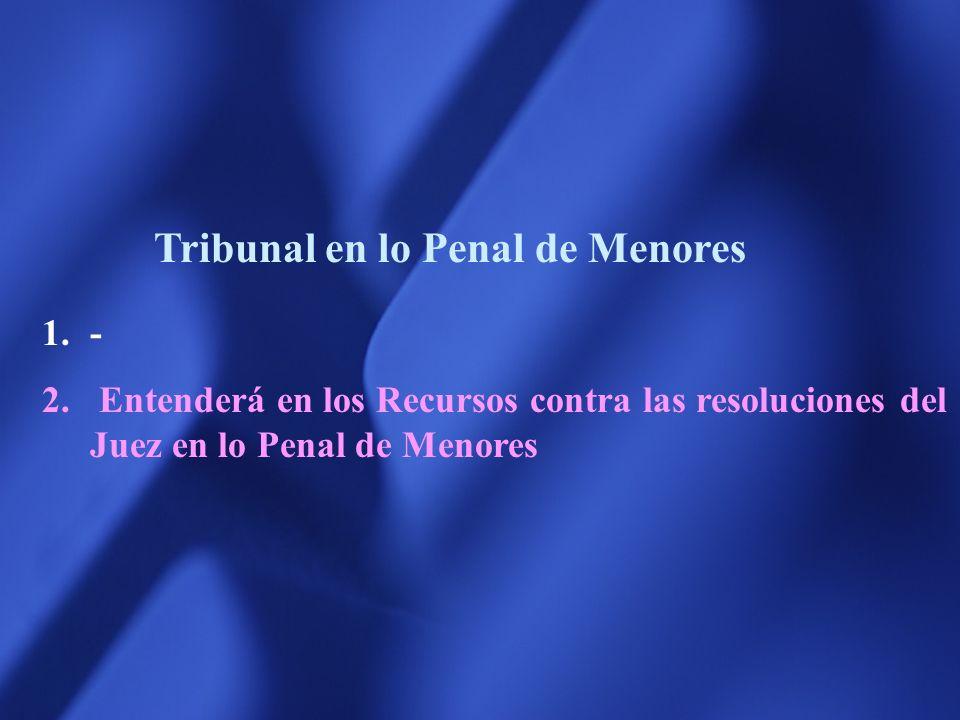 Tribunal en lo Penal de Menores