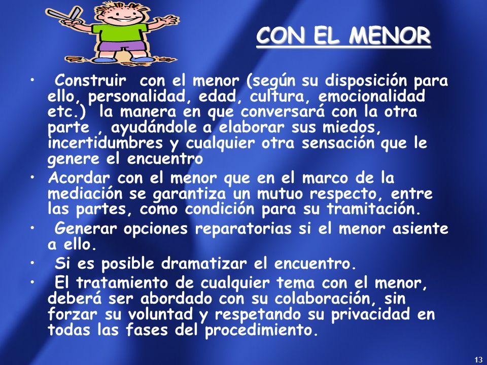CON EL MENOR