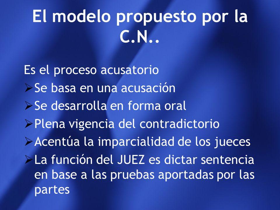 El modelo propuesto por la C.N..