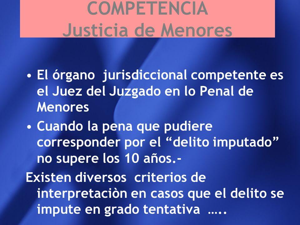 COMPETENCIA Justicia de Menores
