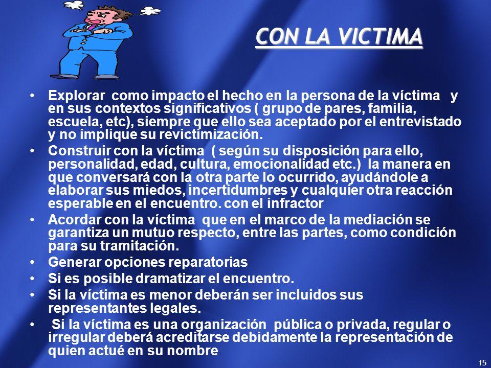 CON LA VICTIMA