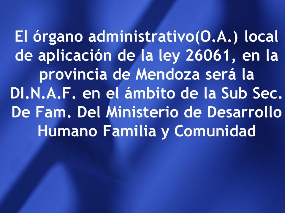 El órgano administrativo(O. A