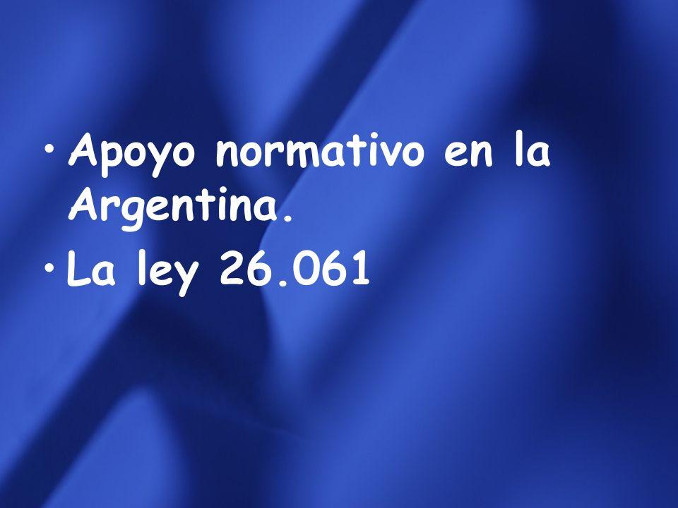 Apoyo normativo en la Argentina.