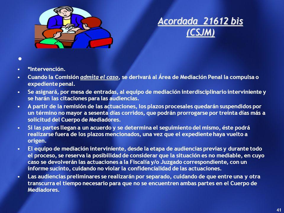 Acordada 21612 bis (CSJM) *Intervención.
