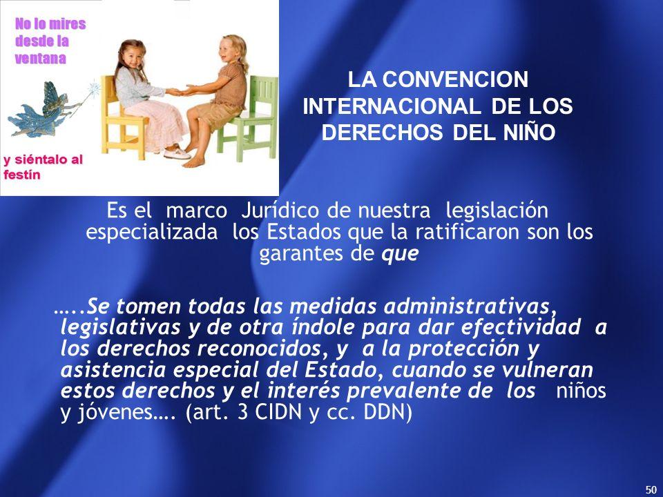 LA CONVENCION INTERNACIONAL DE LOS DERECHOS DEL NIÑO