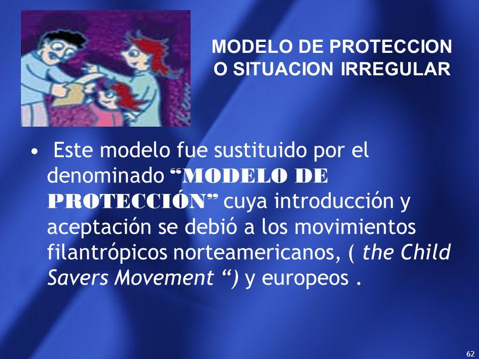 MODELO DE PROTECCION O SITUACION IRREGULAR.