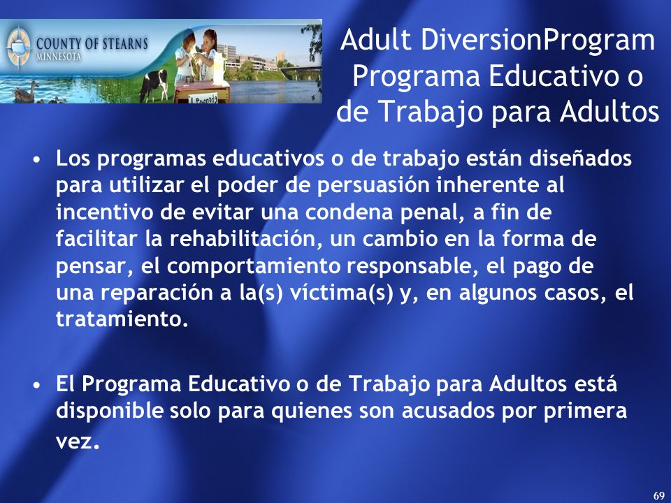 Adult DiversionProgram Programa Educativo o de Trabajo para Adultos