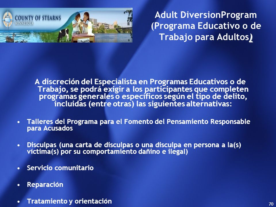 Adult DiversionProgram (Programa Educativo o de Trabajo para Adultos)