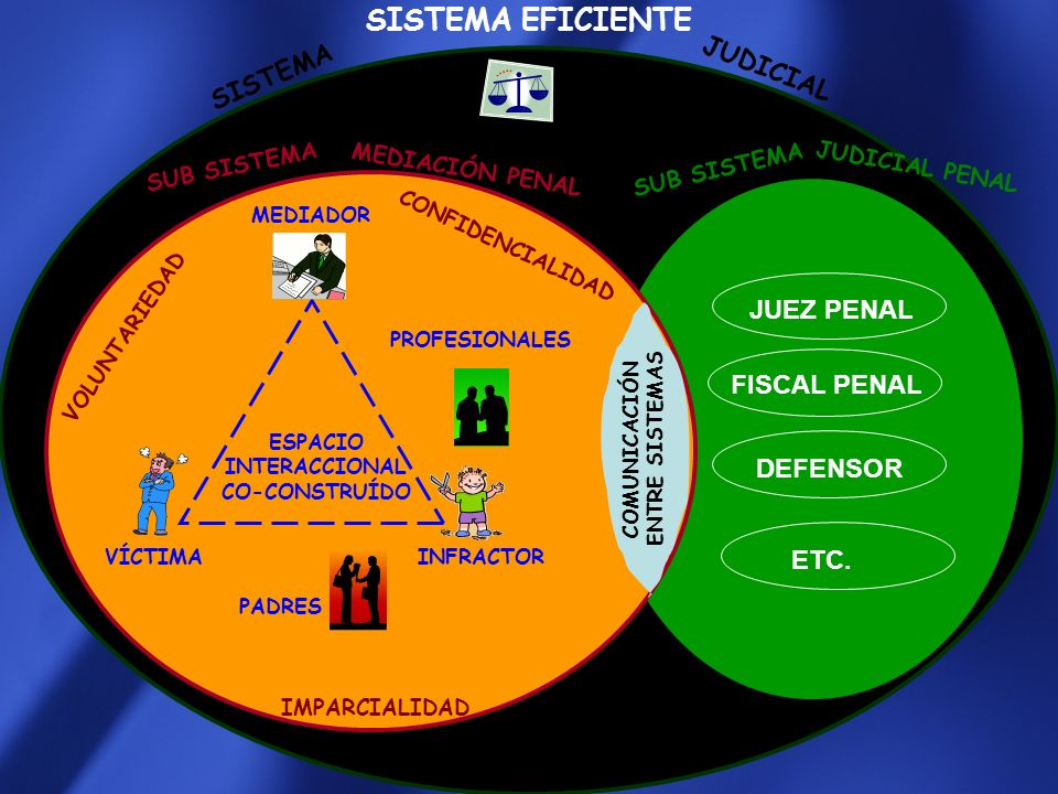 SISTEMA EFICIENTE JUDICIAL SISTEMA JUEZ PENAL FISCAL PENAL DEFENSOR