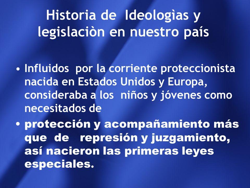 Historia de Ideologìas y legislaciòn en nuestro país