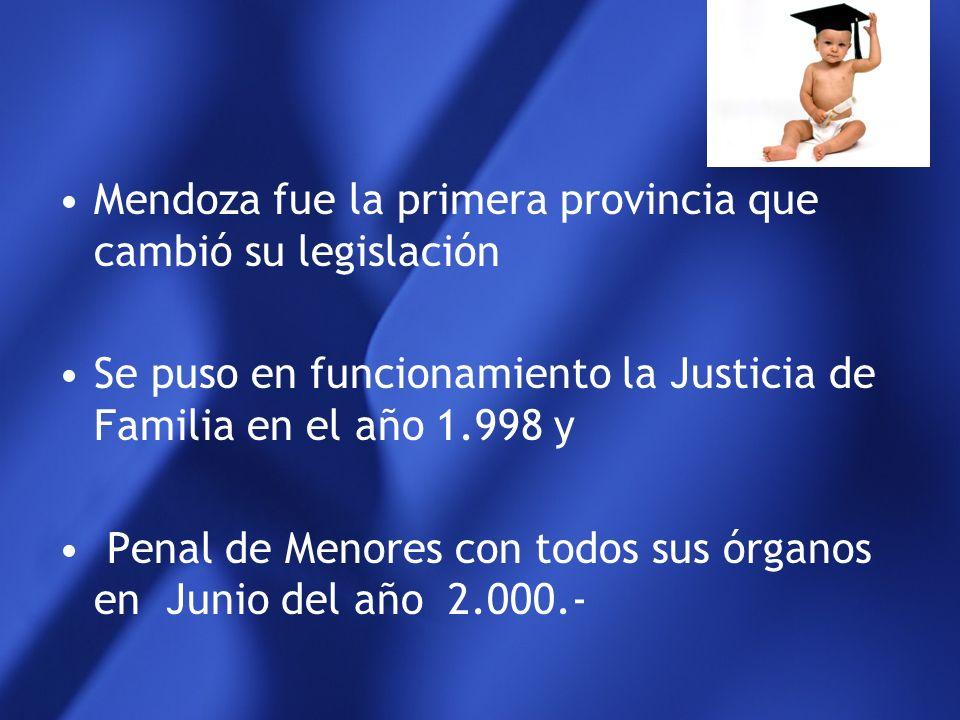 Mendoza fue la primera provincia que cambió su legislación