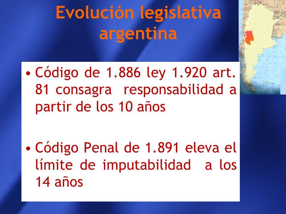 Evolución legislativa argentina