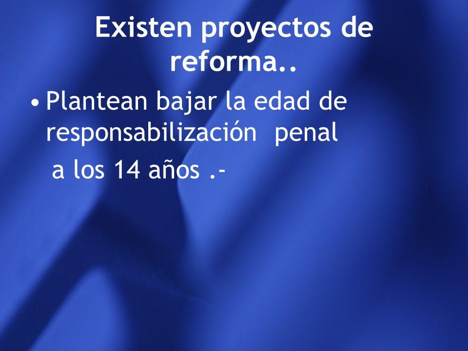 Existen proyectos de reforma..