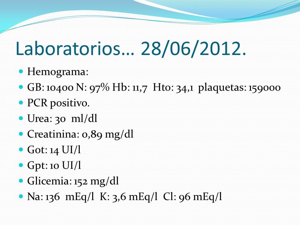 Laboratorios… 28/06/2012. Hemograma:
