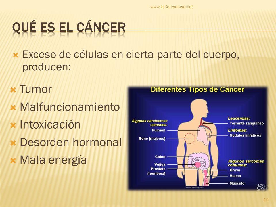Qué es el cáncer Tumor Malfuncionamiento Intoxicación