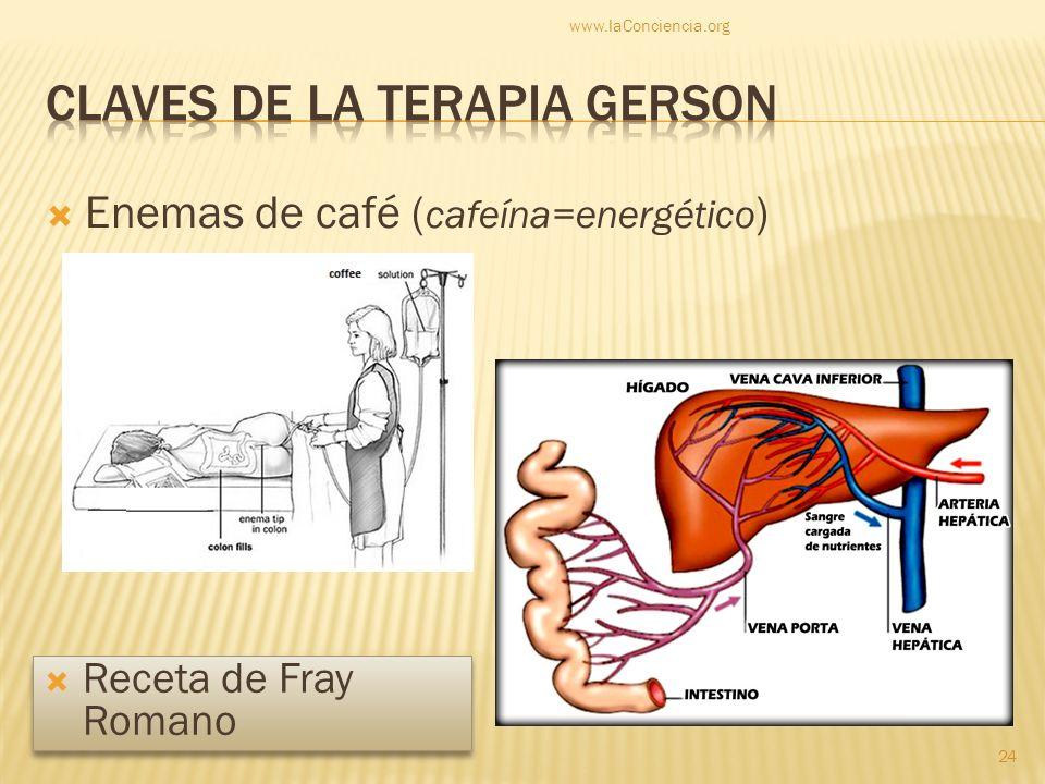 Claves de la terapia gerson