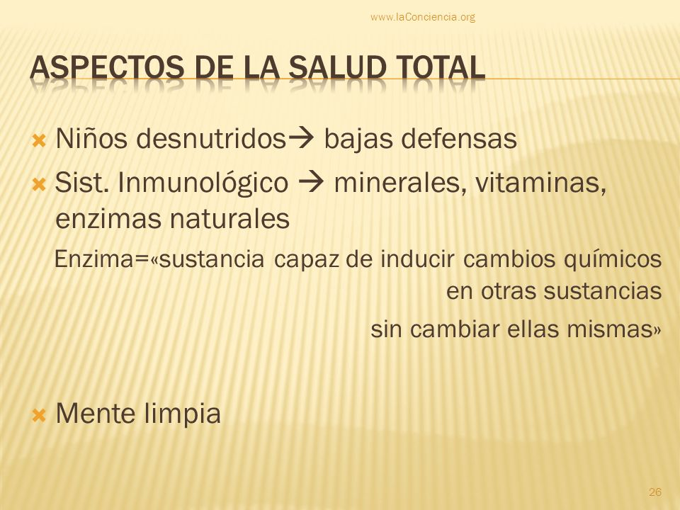 Aspectos de la salud total