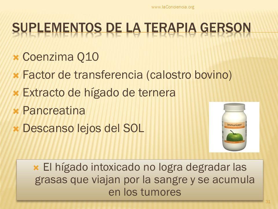 Suplementos de la terapia gerson
