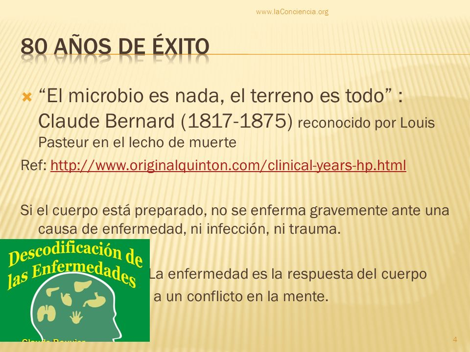 www.laConciencia.org 80 años de éxito.