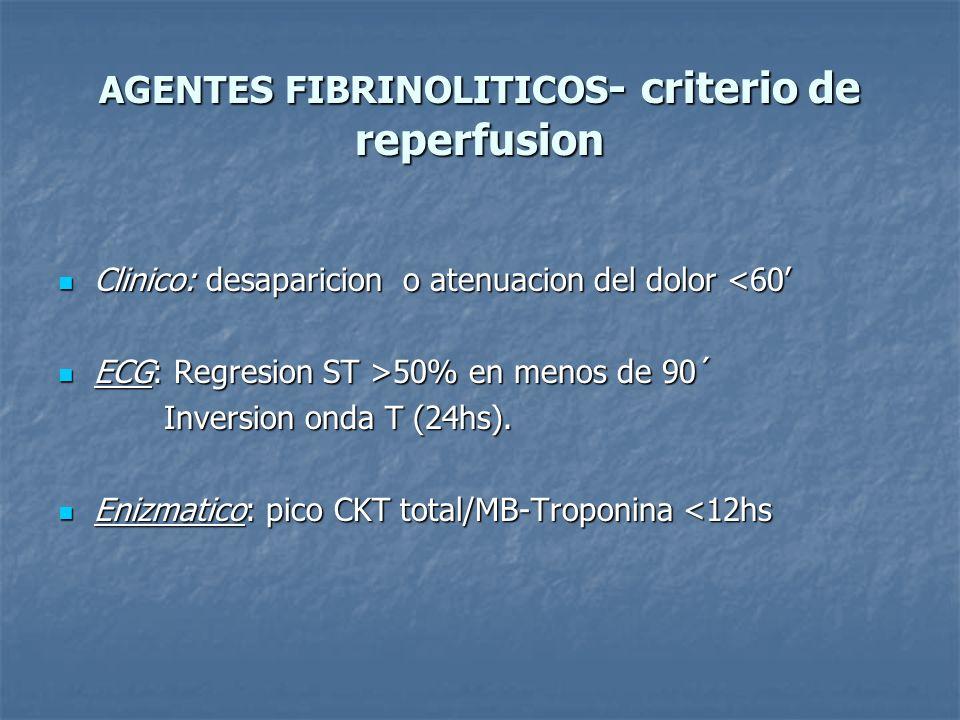 AGENTES FIBRINOLITICOS- criterio de reperfusion