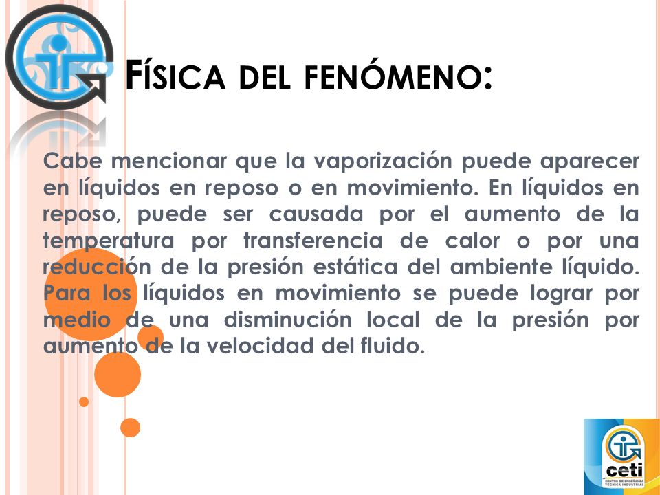 Física del fenómeno: