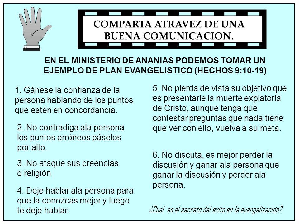 COMPARTA ATRAVEZ DE UNA BUENA COMUNICACION.