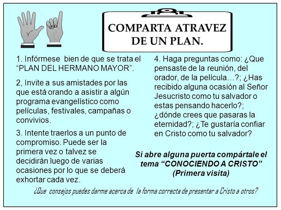 COMPARTA ATRAVEZ DE UN PLAN.