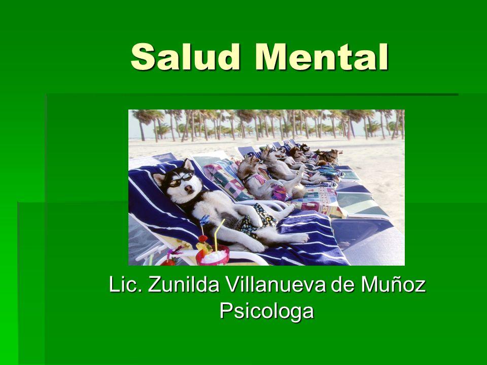 Lic. Zunilda Villanueva de Muñoz Psicologa