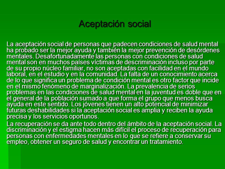Aceptación social