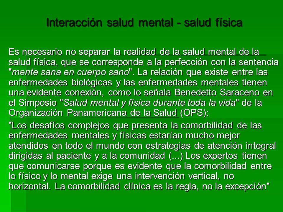 Interacción salud mental - salud física