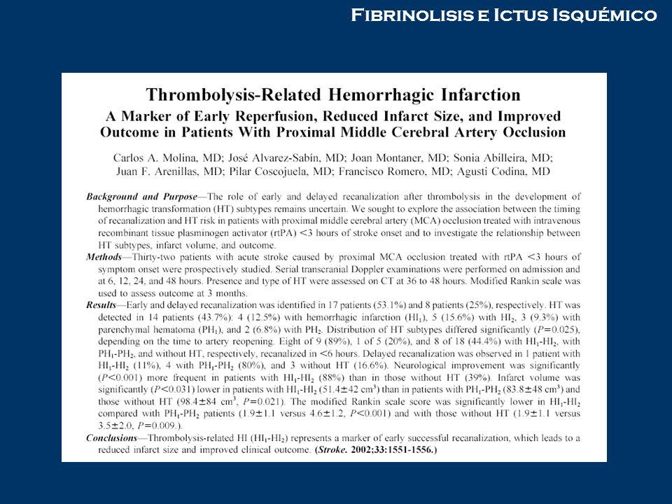 Fibrinolisis e Ictus Isquémico
