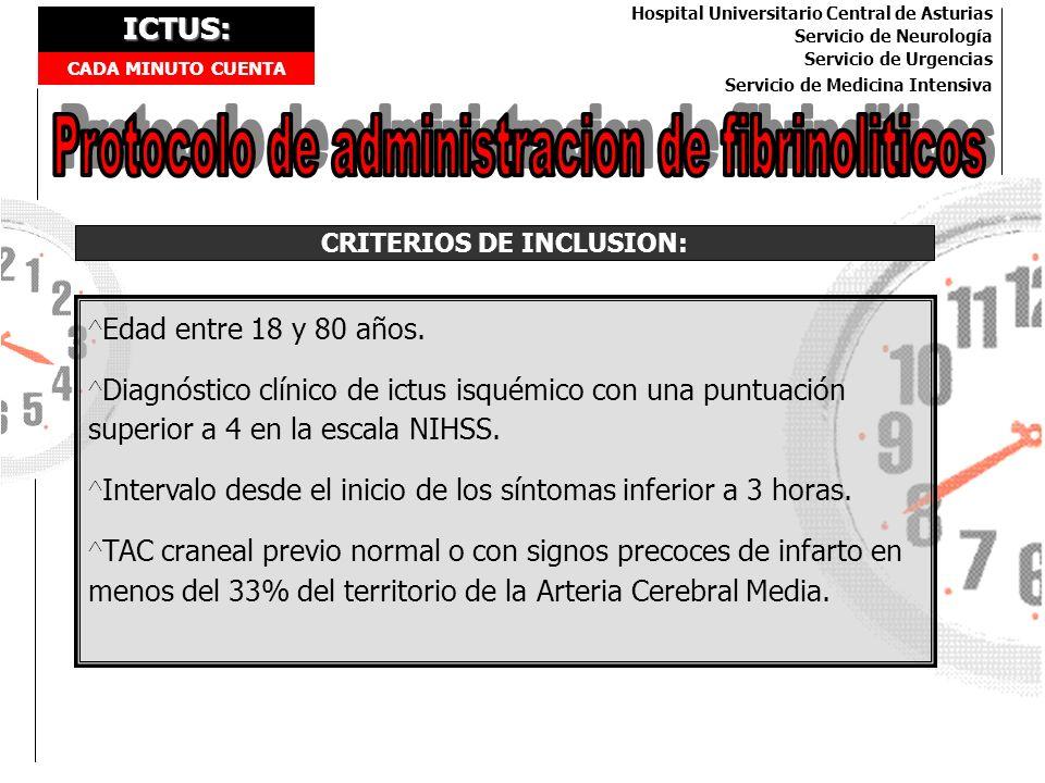 CRITERIOS DE INCLUSION:
