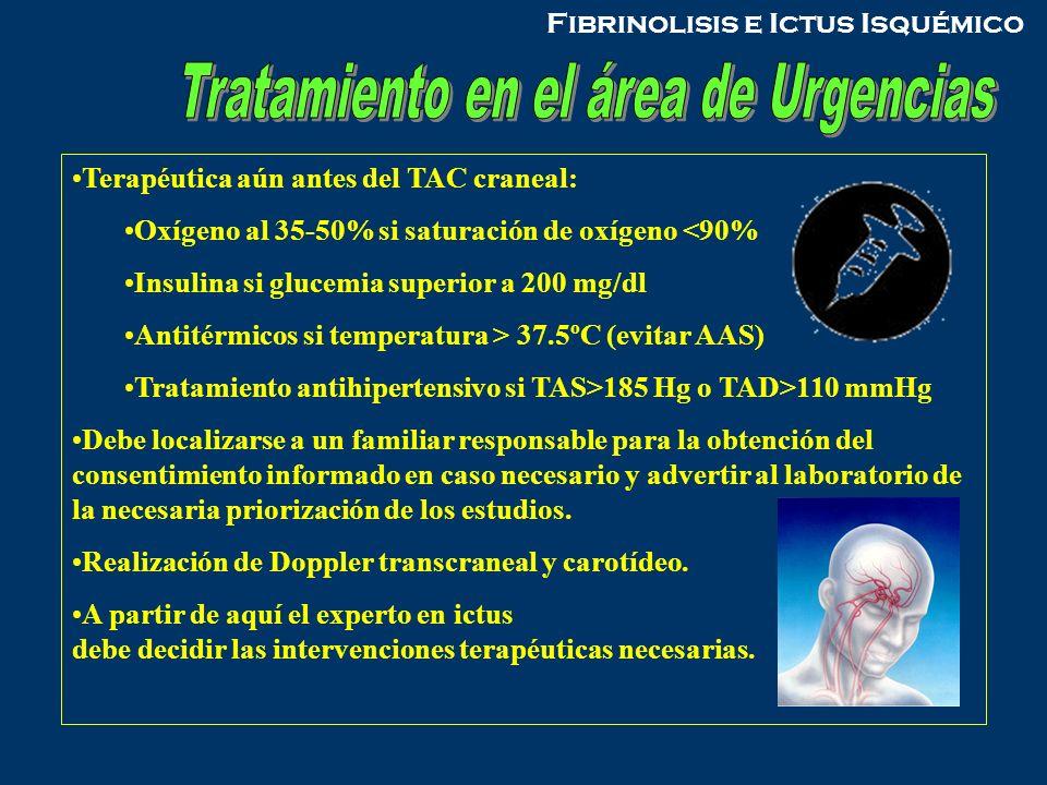 Tratamiento en el área de Urgencias