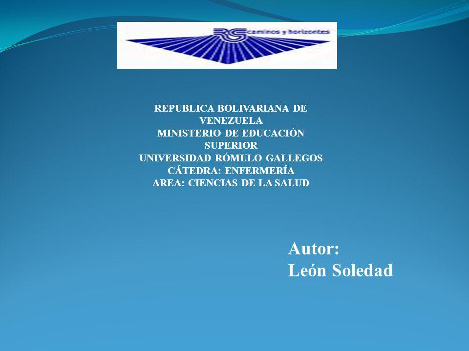 Autor: León Soledad REPUBLICA BOLIVARIANA DE VENEZUELA