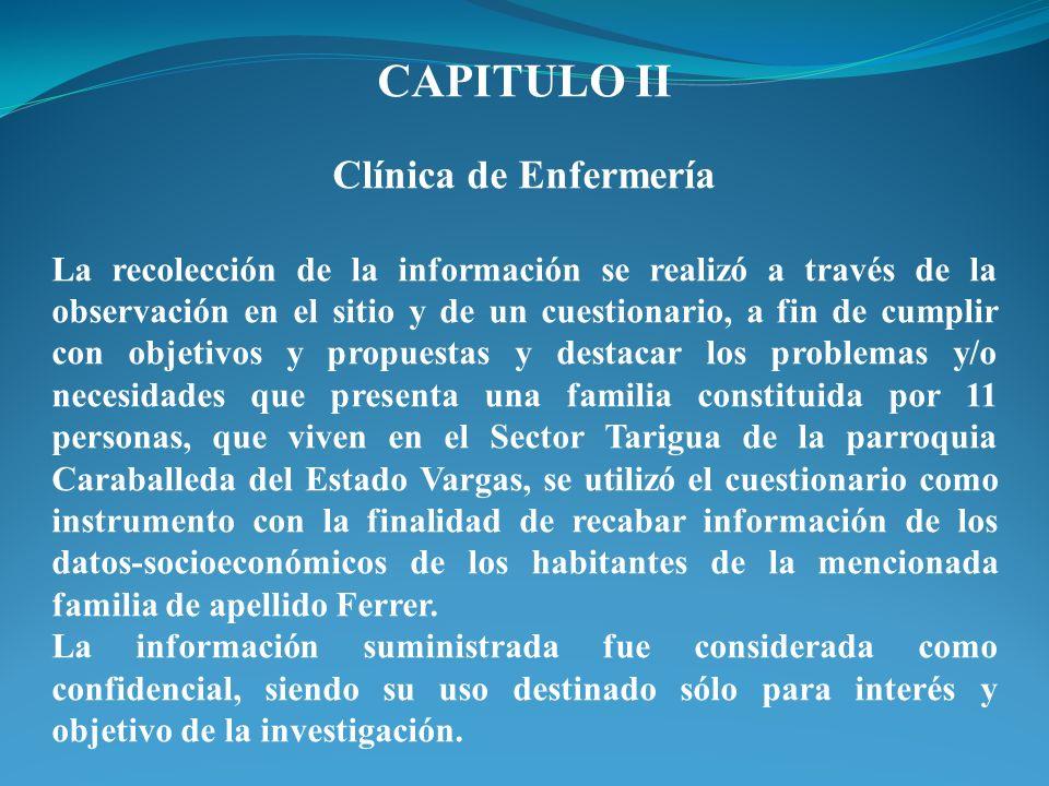 CAPITULO II Clínica de Enfermería