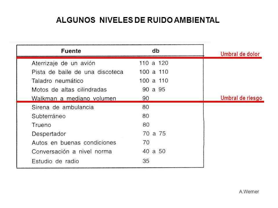 ALGUNOS NIVELES DE RUIDO AMBIENTAL