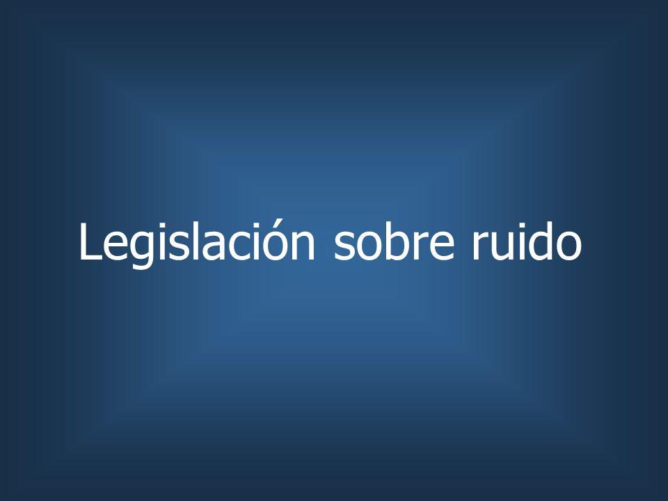 Legislación sobre ruido