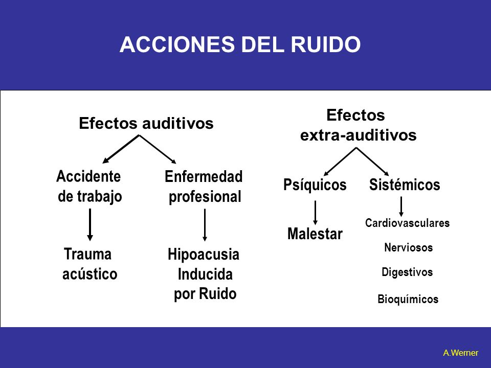 ACCIONES DEL RUIDO Efectos extra-auditivos Efectos auditivos Accidente