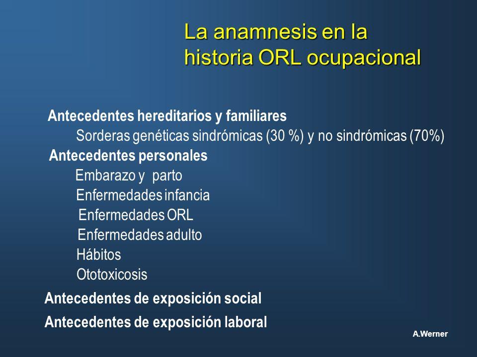 historia ORL ocupacional