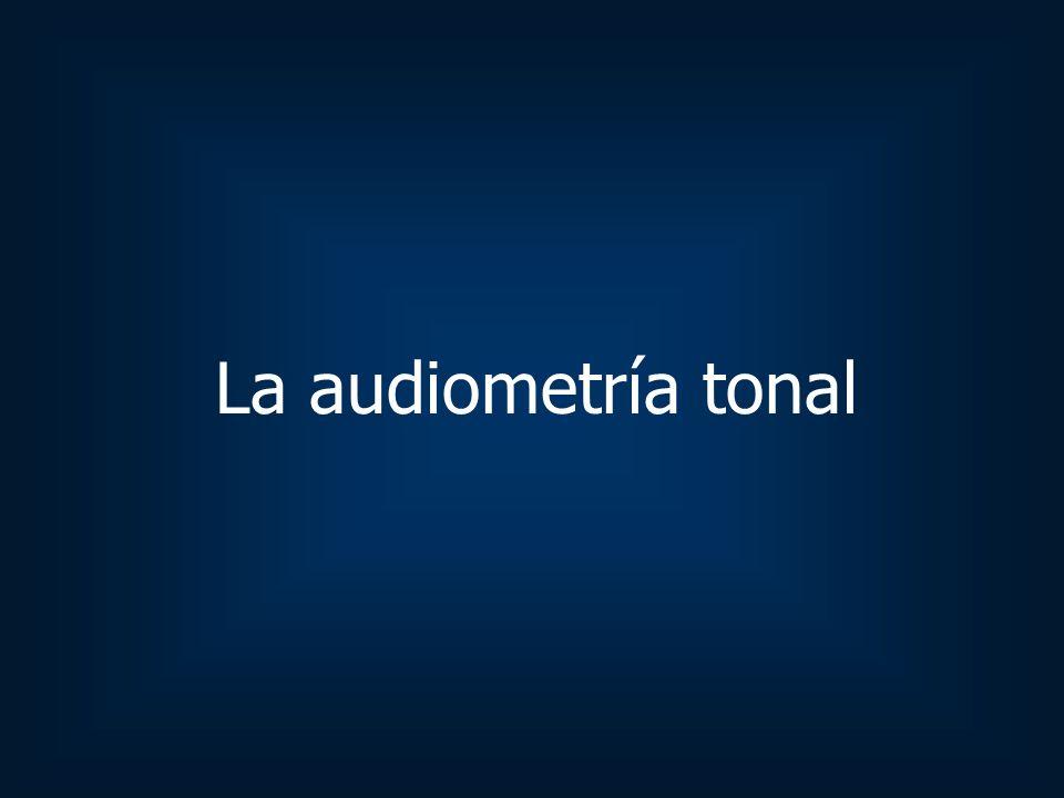La audiometría tonal