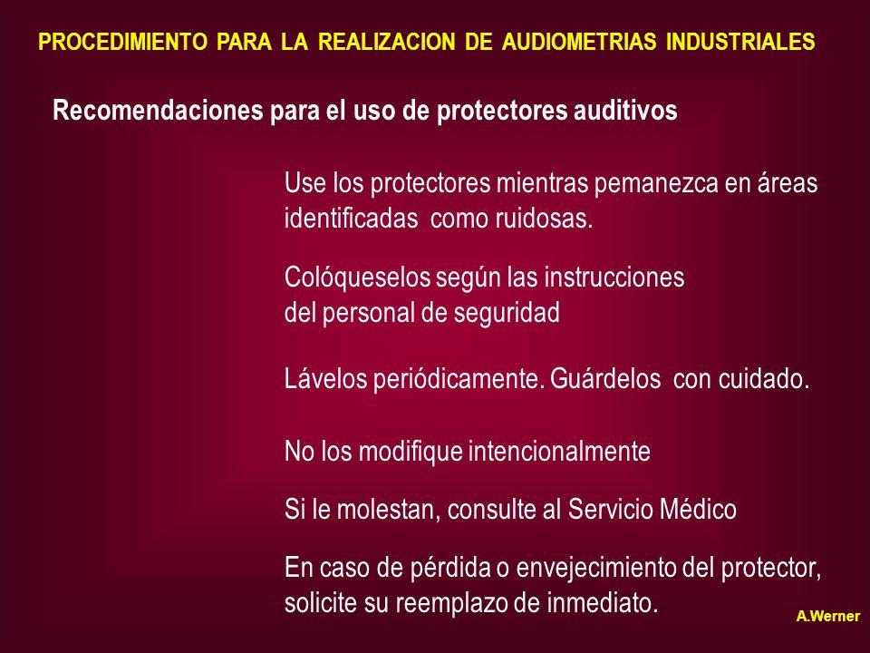 Recomendaciones para el uso de protectores auditivos