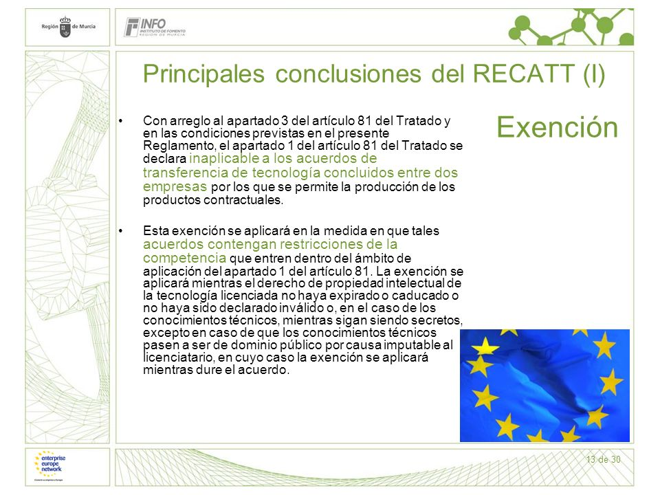 Principales conclusiones del RECATT (I)