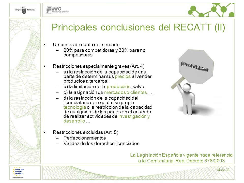 Principales conclusiones del RECATT (II)