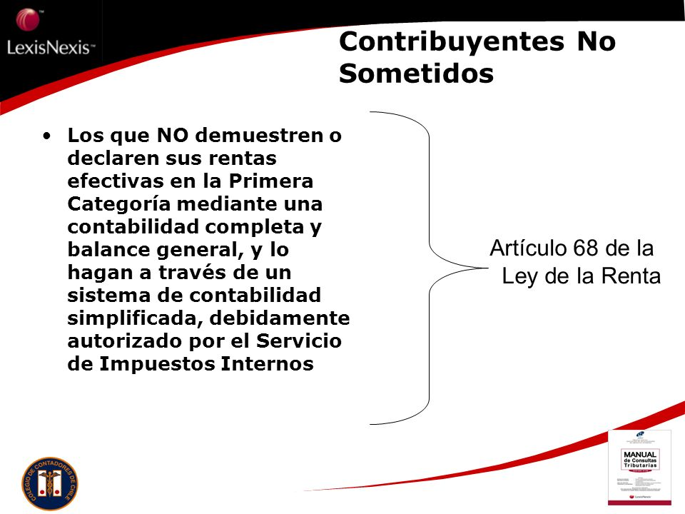 Contribuyentes No Sometidos