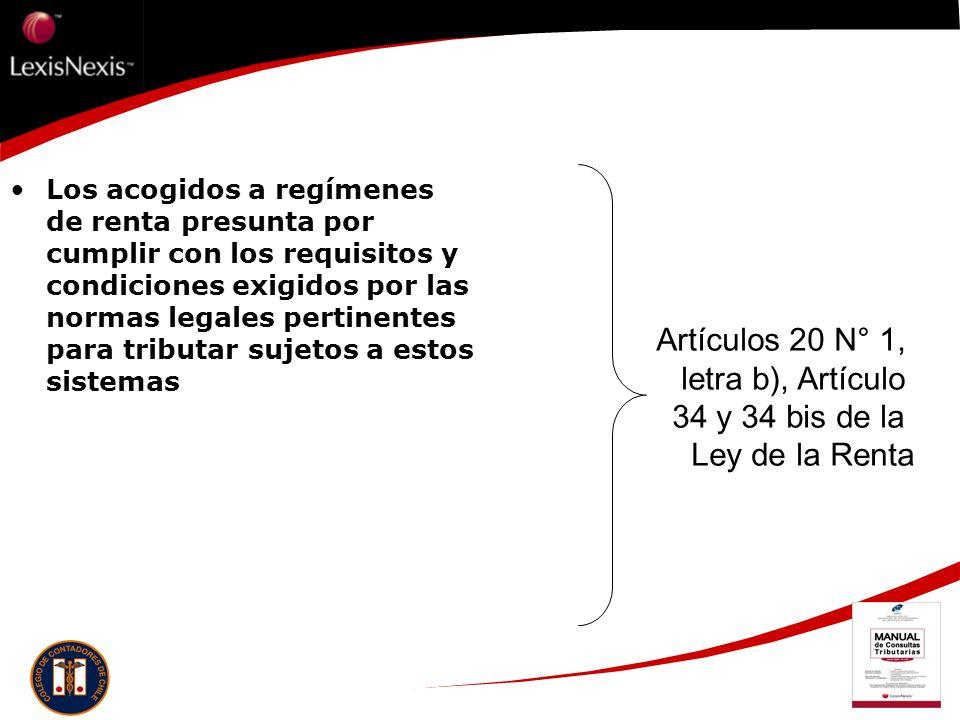 Artículos 20 N° 1, letra b), Artículo 34 y 34 bis de la