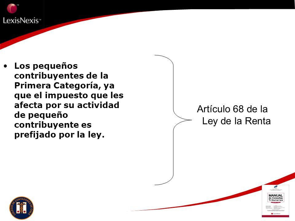 Artículo 68 de la Ley de la Renta