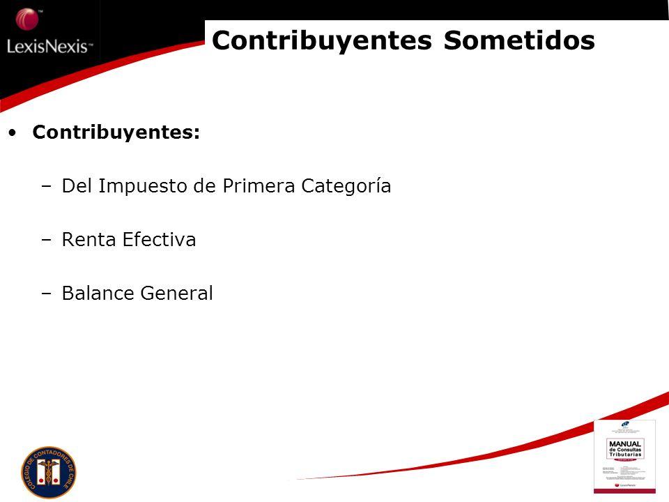 Contribuyentes Sometidos