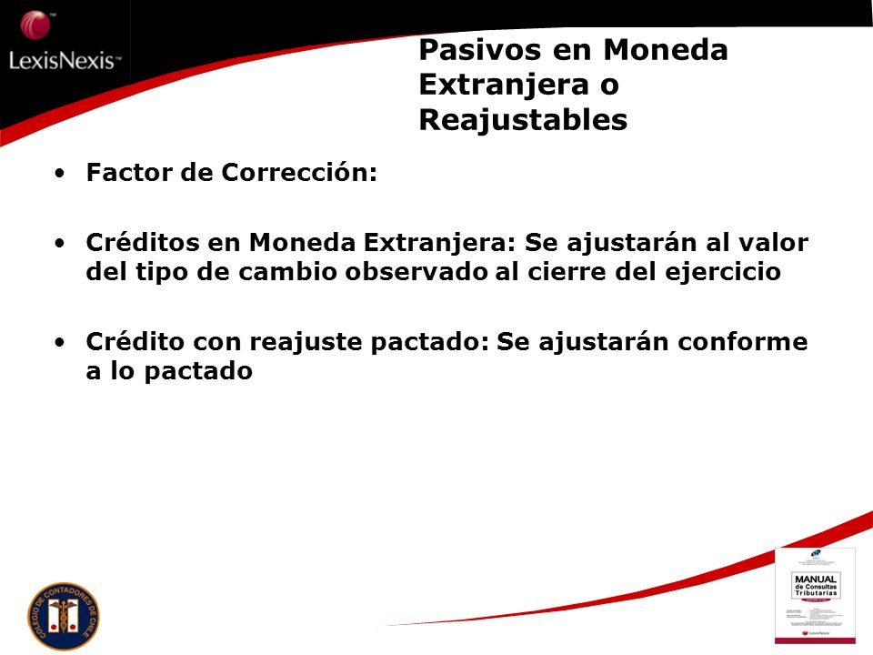Pasivos en Moneda Extranjera o Reajustables