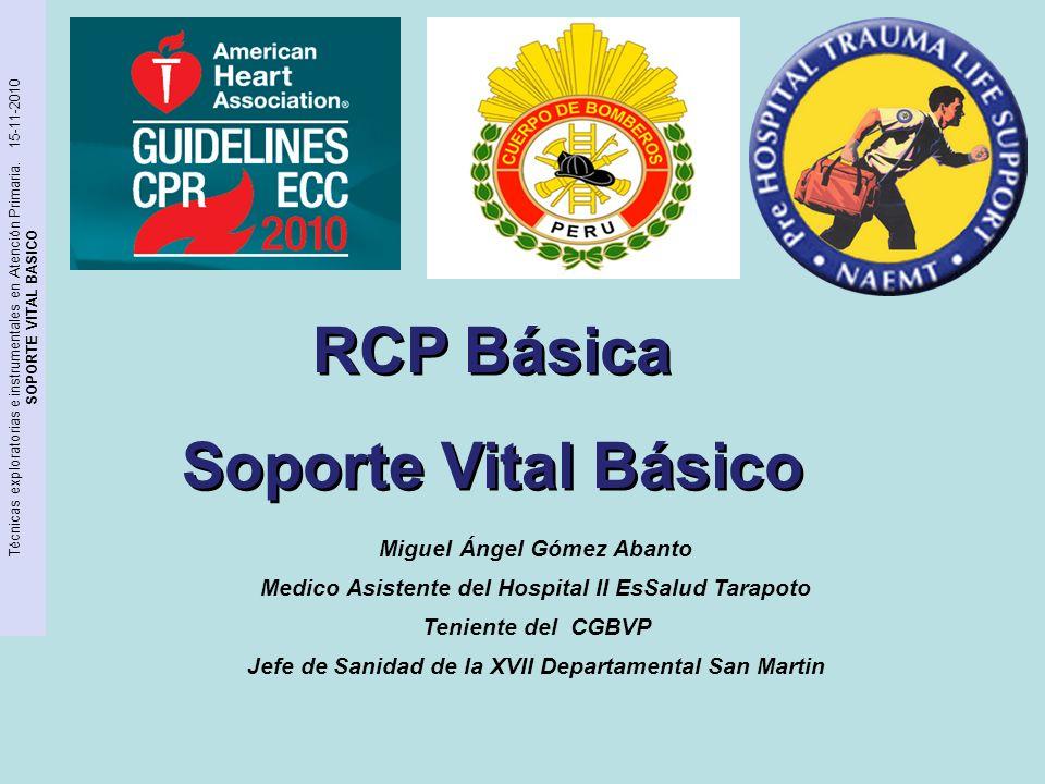 RCP Básica Soporte Vital Básico