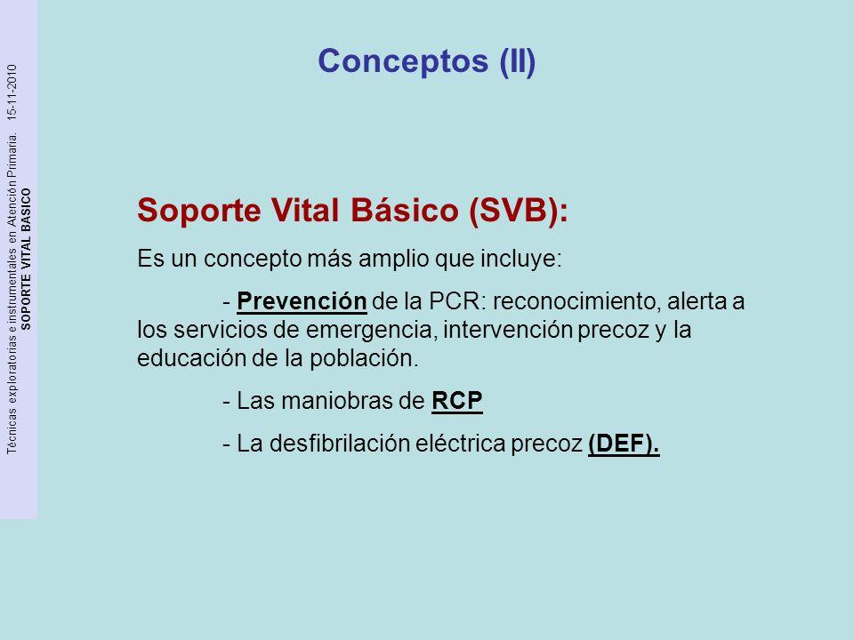 Soporte Vital Básico (SVB):